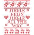 jingle bells jingle bells christmas song pattern vector image