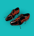 leather brown men shoes vector image vector image