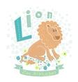 Letter L - Lion vector image