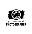logo for photographer vector image vector image