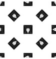 man pattern seamless black vector image vector image