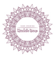 mandala for coloring with floral decorative elemen vector image vector image