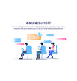 online support operator sit on chair workplace vector image vector image