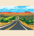 picturesque route to the west vector image