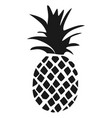 pineapple tropical fruit black silhouette vector image