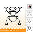 robot ant simple black line icon vector image vector image