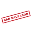 San Salvador Rubber Stamp vector image vector image