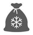 santa bag glyph icon christmas and gift vector image vector image