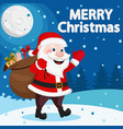 santa claus carries a bag full of gifts in the vector image vector image