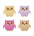 Set of cartoon owls for wisdom or education vector image