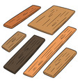 set plywood vector image vector image
