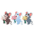 set with mouse-02 vector image vector image