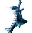 Shattered runner vector image vector image