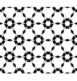 simple black white hexagonal pattern vector image vector image