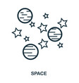 space icon flat style icon design ui vector image vector image