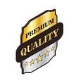 Square label premium quality icon vector image