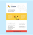 template layout for fish comany profile annual vector image vector image