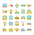 Transport Colored Icons 1 vector image vector image