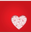 Valentines day red heart vector image