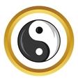 Yin and yang symbol icon cartoon style vector image vector image