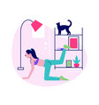 yoga home vector image