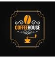 coffee bean vintage label background vector image