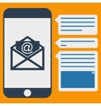 phone messages vector image