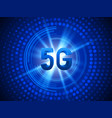 5g technology concept background vector image vector image