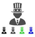 american capitalist flat icon vector image vector image
