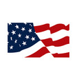 american waving flag isolated vector image