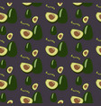 avocado seamless repeating pattern hand drawn vector image
