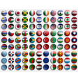 badge of icon from flags of countries world set vector image vector image