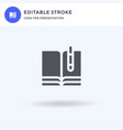 book icon filled flat sign solid vector image vector image