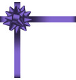 bow with ribbon 2 vector image vector image