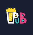 bright logo pub beer mug of foaming beer on a dark vector image vector image
