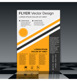 Brochure cover design template vector image