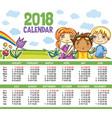 calendar 2018 year vector image