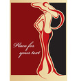 Classical Female Carton with Text Space vector image vector image