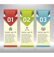 Colorful origami style number options banner vector | Price: 1 Credit (USD $1)
