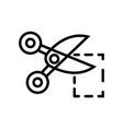 coupon- black linear coupon symbol vector image