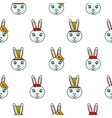 cute blue bunny seamless bapattern vector image vector image