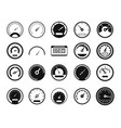 dashboard icon set simple style vector image