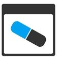 Drugs Capsule Calendar Page Toolbar Icon vector image vector image