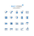 easy icons 01f security vector image