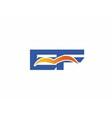EF Logo Graphic Branding Letter Element vector image vector image