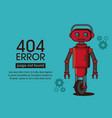 error 404 robot style vector image