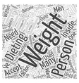 Finding the Beauty Within While Dieting Word Cloud vector image vector image