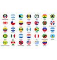 flags of all countries of the american continents vector image
