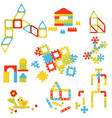 flat set of different children constructors vector image