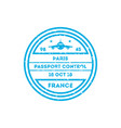 france country visa stamp on passport vector image vector image